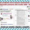 Formatos de los productos de la semana nacional de actualización de educación primaria ciclo escolar 2018 – 2019