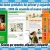 Libros de texto gratuitos de primer y segundo grado ciclo escolar 2018 – 2019 de acuerdo al nuevo modelo educativo