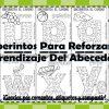 Material didáctico laberintos para reforzar el aprendizaje del abecedario