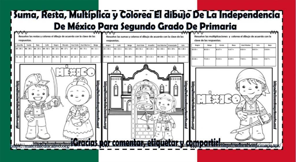 Suma Resta Multiplica Y Colorea El Dibujo De La