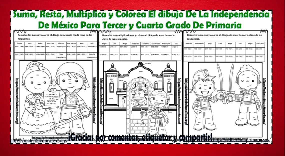 Independencia De Mexico Educación Primaria