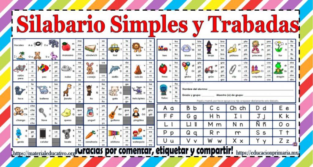 Silabario Simples Y Trabadas Educacion Primaria