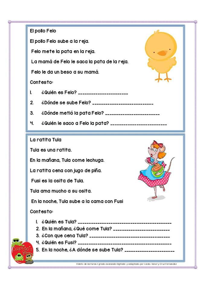 Lecturas Cortas Para Niños Listos Para Primer Y Segundo