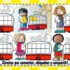Estupendo material para aprender a contar pegando bolitas para preescolar y primer grado de primaria