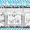 Suma, resta, multiplica y colorea el dibujo de la revolución mexicana para tercer y cuarto grado de primaria