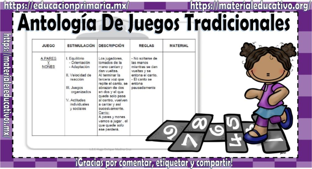 Antologia De Juegos Tradicionales Educacion Primaria