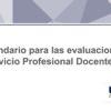 Calendario para las evaluaciones del Servicio Profesional Docente 2019